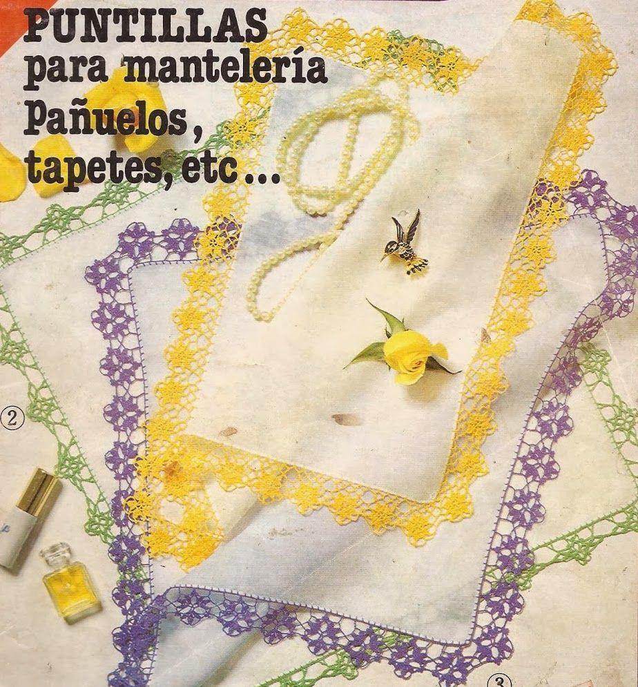Puntillas para Pañuelos Finos | Edge crocheted | Pinterest