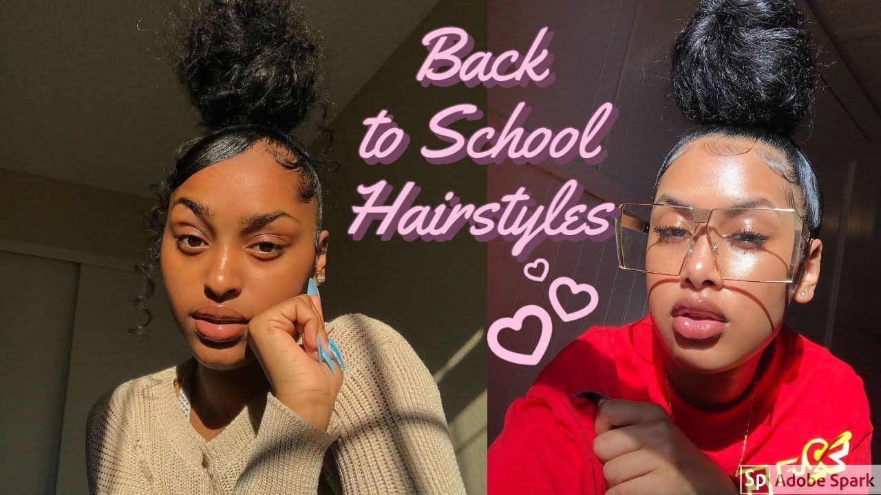 Back To School Hairstyles 2020 2021 School Hairstyles Beautyinallhair In 2020 Back To School Hairstyles Hairstyles For School Natural Hair Styles