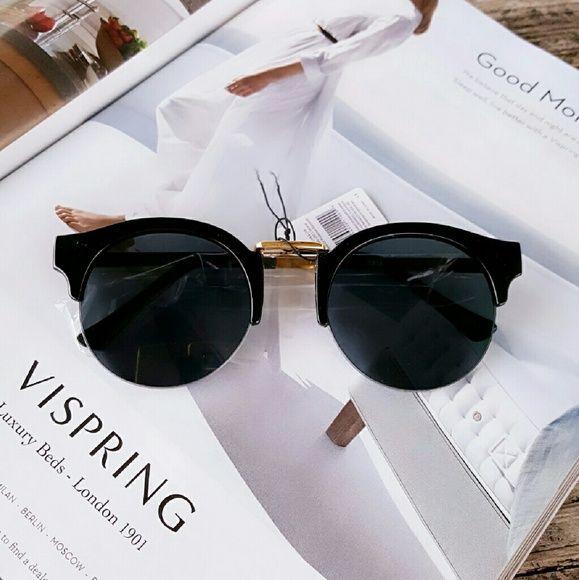 "Round Nerdy Sunglasses Details  *Round  Nerdy Sunglasses  *5.7 - 2"" approx Accessories Sunglasses"