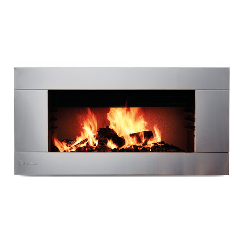Scandia Indoor Fire Heater Avante Stainless Steel Decorative ...
