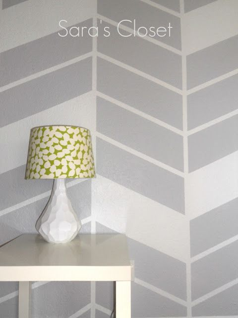 Sara's Closet,used painter's tape wall design. Simple & Chic.