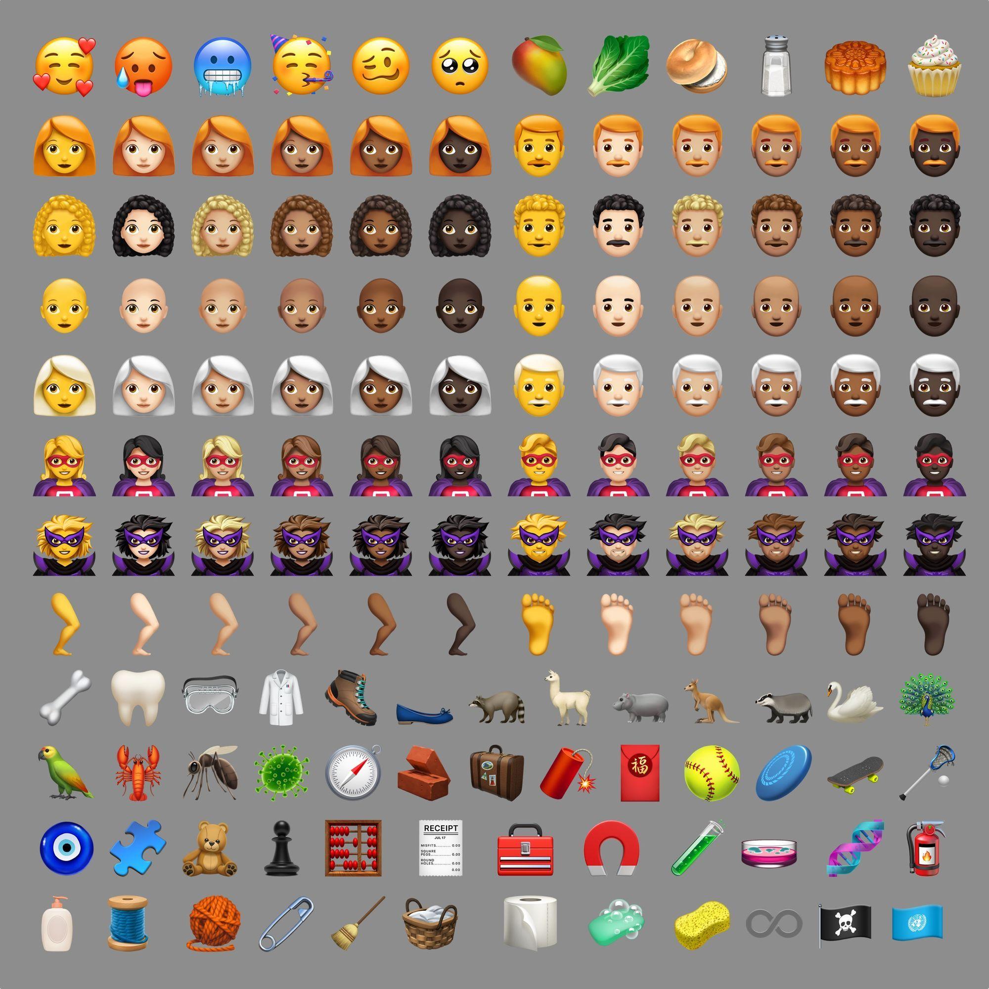 Ios 12 1 Emoji Changelog Emoji New Emojis Snapchat Stickers