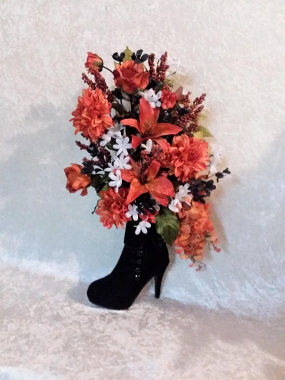 Silk flower arrangement in a high heel bootie flower arrangements silk flower arrangement in a high heel bootie mightylinksfo