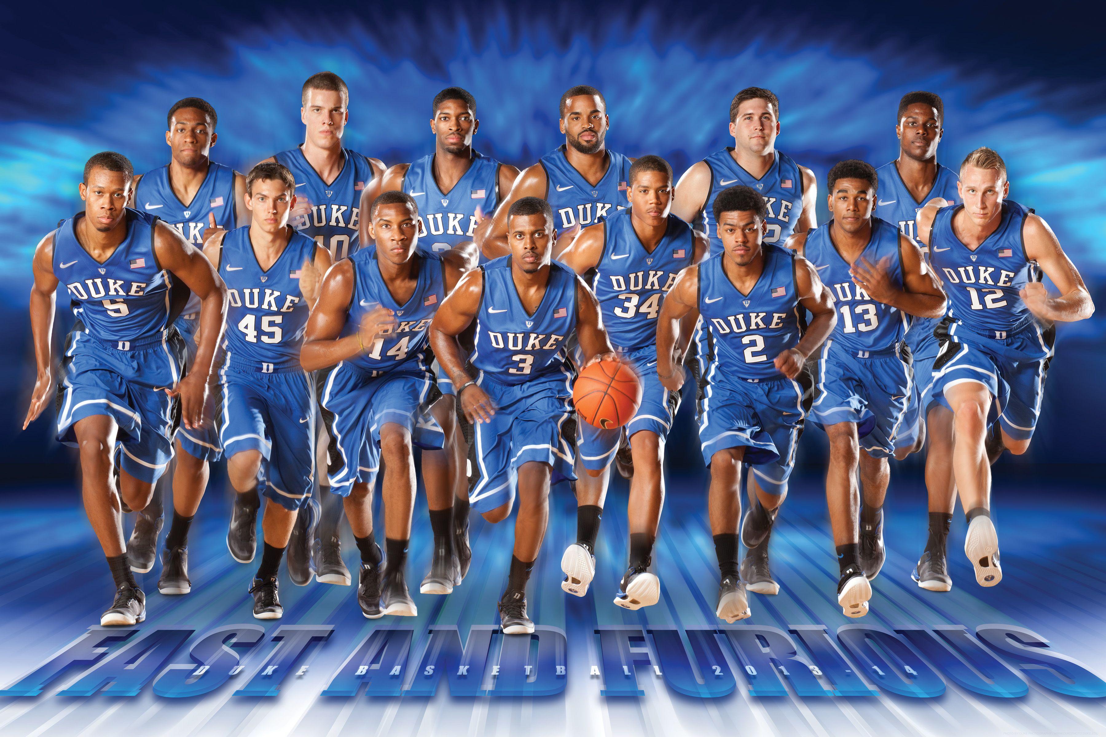 2013 14 Duke Basketball Basketball Team Pictures Duke Blue Devils Basketball