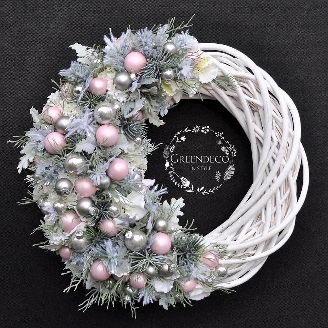 """Photo of """"Greendeco"""" – Negozio online su Instagram: """"Wreath ❤ #Wianek #winter #wiankigreendeco #wrearths #wreathhome #wreathchristmas #christmasflowers #christmas #xmas # bozenarodzenie …"""""""