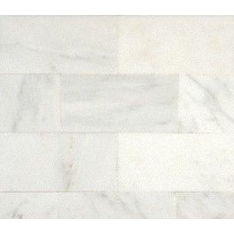 Arabescato Carrara 3 in. x 6 in. Polished Marble Bricks. #Arabescato, #Carrara_marble, #Brick_marble
