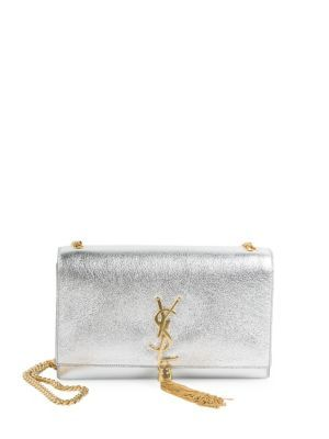 81df203d5c42 SAINT LAURENT Medium Kate Monogram Tassel Metallic Leather Chain Shoulder  Bag.  saintlaurent  bags  shoulder bags  leather  lining  cotton  metallic