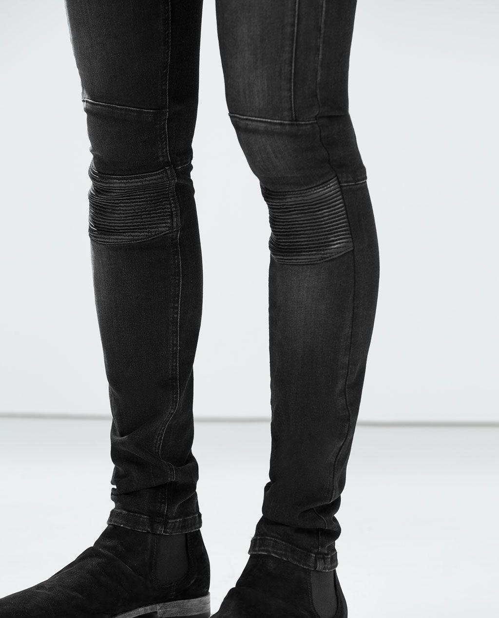80069a67ac Interesting Biker Skinny Jeans | 2015 LookBook | Black moto jeans ...