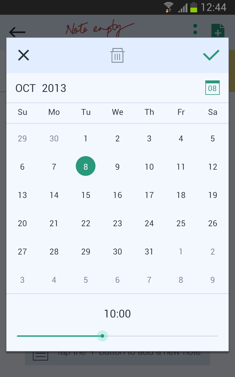 App #Interface #UI #UX #design #JusWriteApp Date Picker Screen on