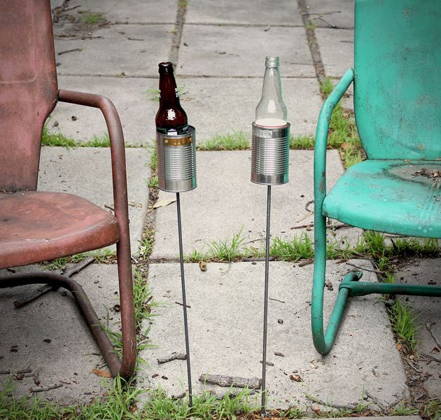 Love these: Hobo Tin Can Beer Holders