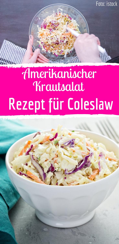 Coleslaw: Rezept für amerikanischen Krautsalat #cookiesalad
