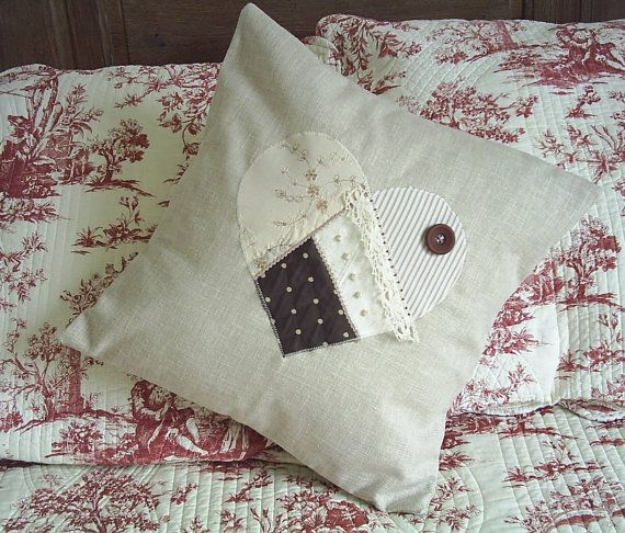 Cream Cushion With Lace And Pearl Bead Trimmingscream By Fraline 25 37
