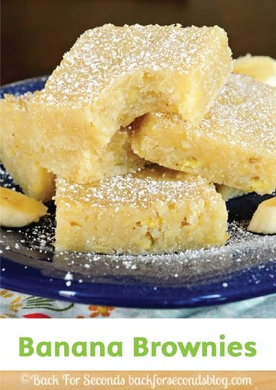 Celebrate spring with these quick and easy banana brownies for dessert!