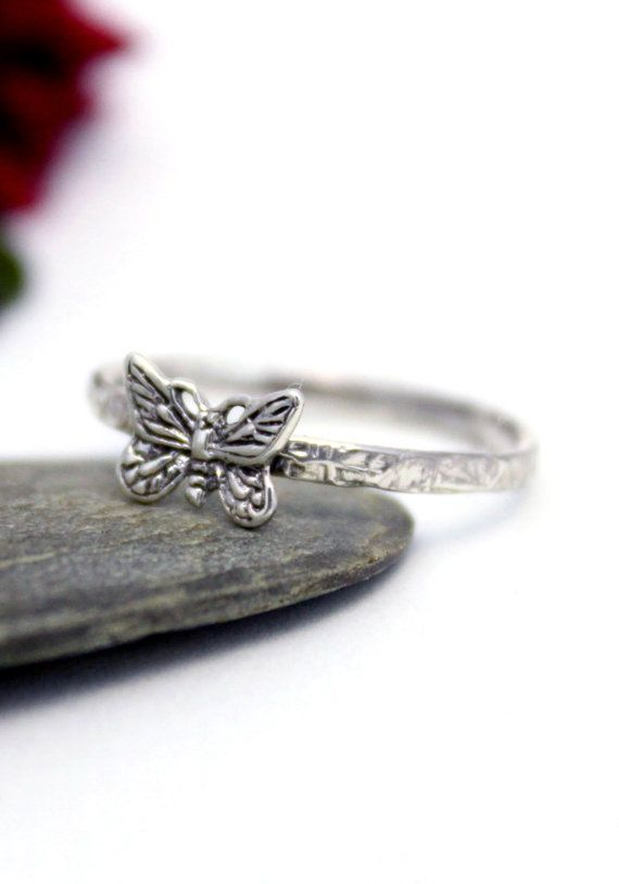 Butterfly Ring Statement Ring Cute butterfly Ring by rosajuri