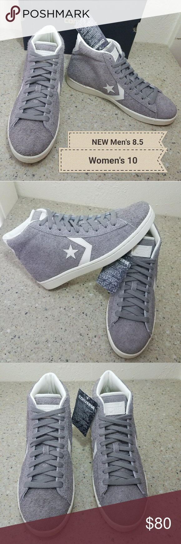 5716085eef6 NEW Converse Leather Pro Suede Men 8.5 Converse Pro Leather Vintage Suede  high tops. These