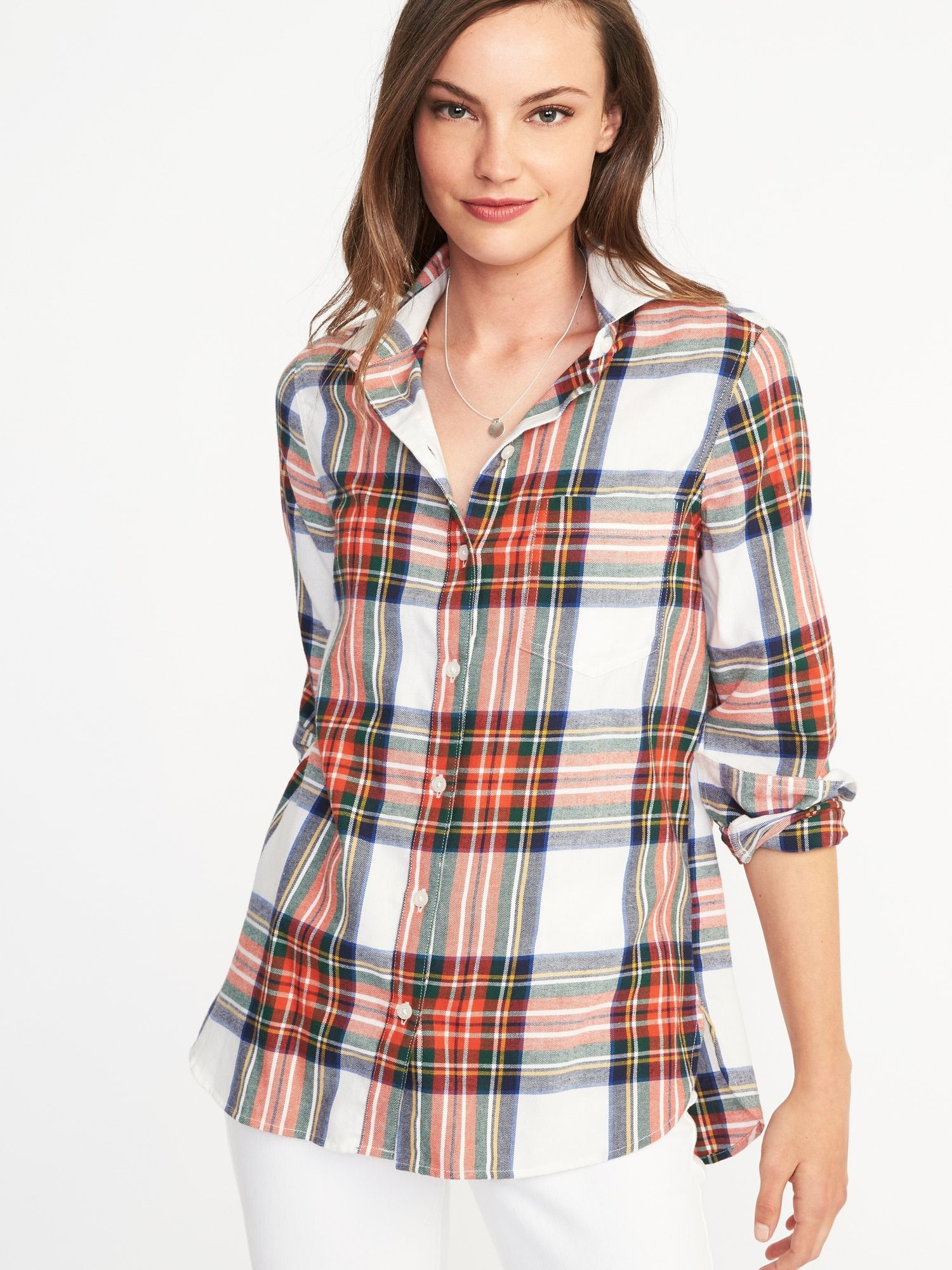 64523305966b73 Classic Flannel Shirt for Women
