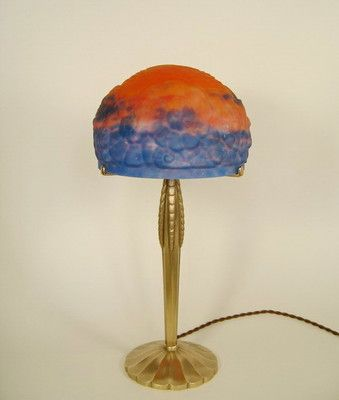 Hettier Vincent and Muller Freres RARE 1925 French Art Deco Lamp in Bronze | eBay