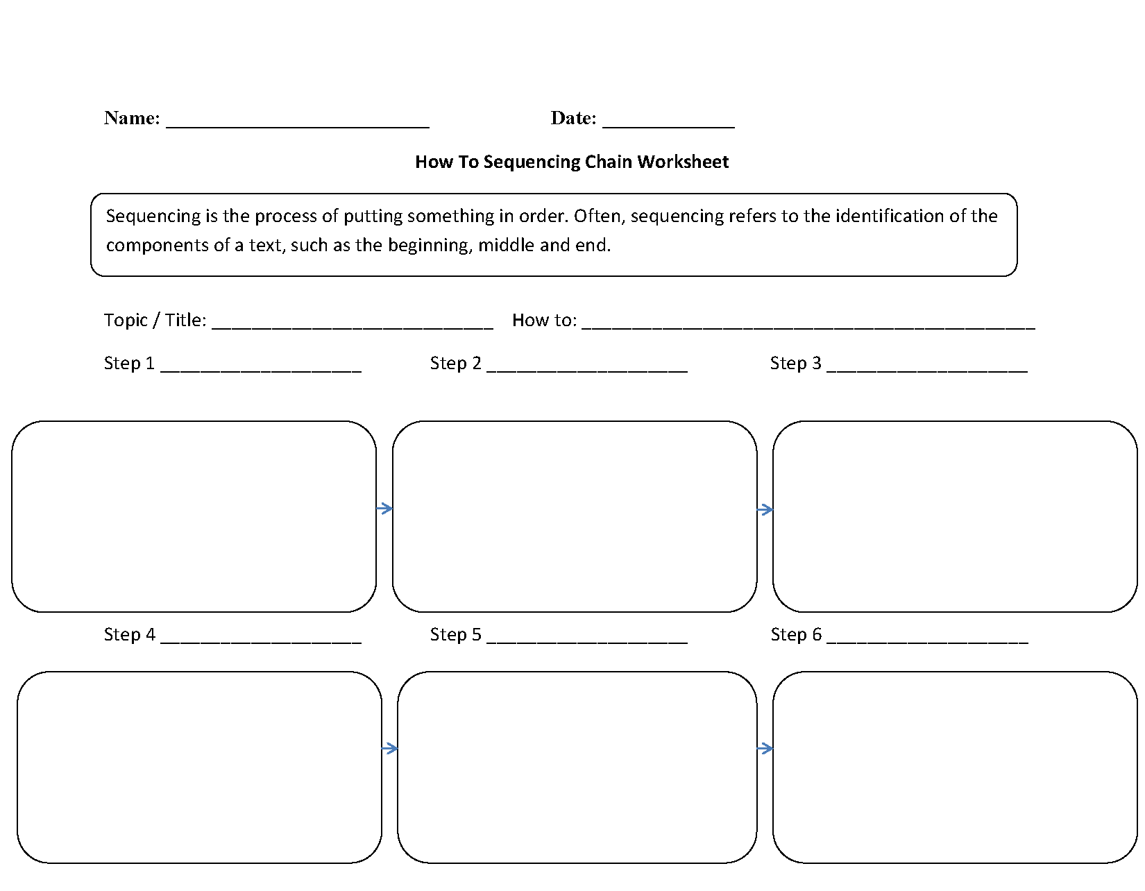 How To Sequencing Chain Worksheets
