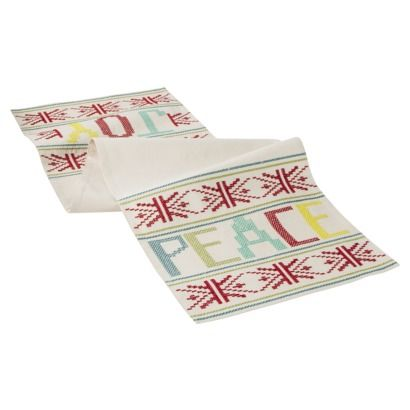 Upstate Fair Isle Joy & Peace Table Runner, from @Target, Holiday ...