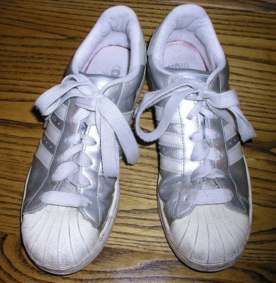 Vintage Adidas Superstar Metallic Silver Patent Leather Shell Toe Disco  Shoes - Men's 9, Women's 10.5