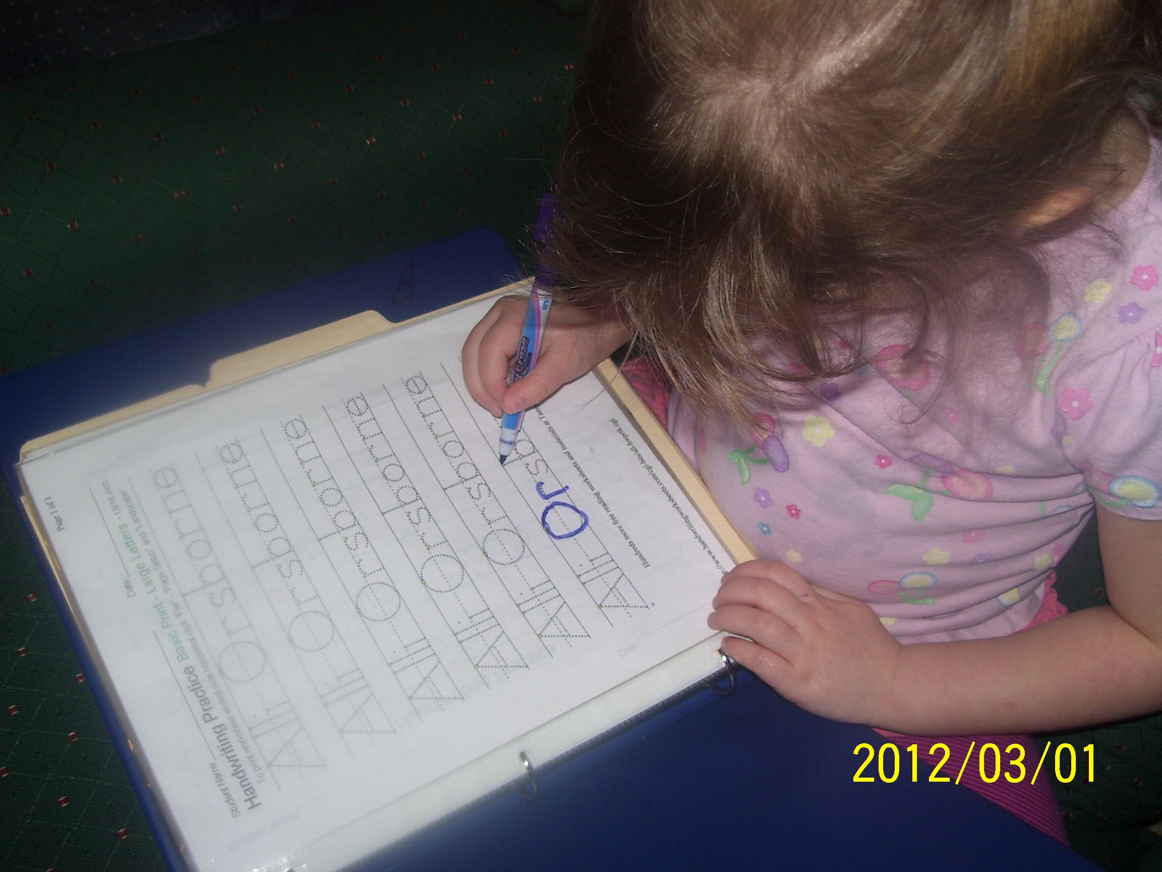 Workbook This Is My Daughter Writing Her Name I Made The