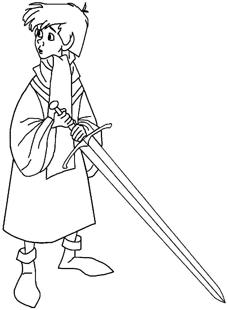 The Sword In The Stone King Arthur Big Sword Coloring Pages In 2020 Sword In The Stone Coloring Pages Disney Coloring Pages