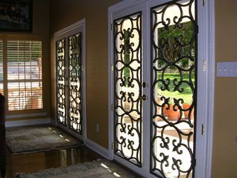 Attractive Faux Iron On French Doors...beautiful