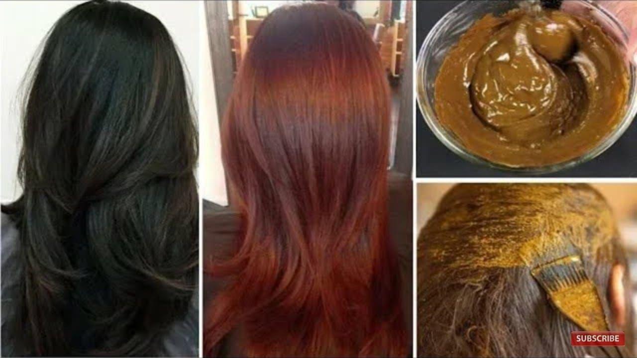 صباغة طبيعية سهلة ونتيجتها مبهرة صبغ الشعر بالبني مع تغطية الشعر الابيض Natural Brown Hair Brown Hair Dye Natural Hair Dye Brown