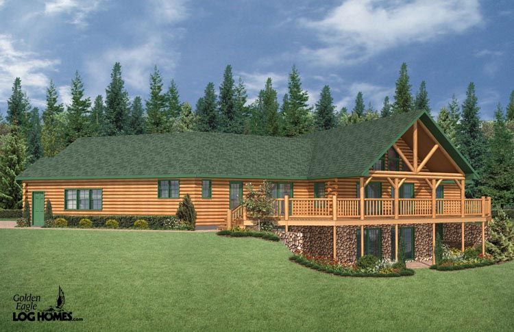 ranch style log home plans