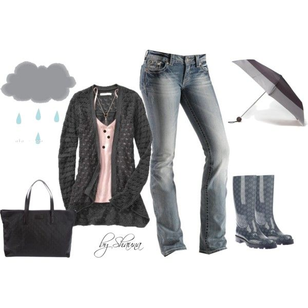 """""""Gucci rainboots...Face Fall in style"""" by shauna-rogers on Polyvore"""