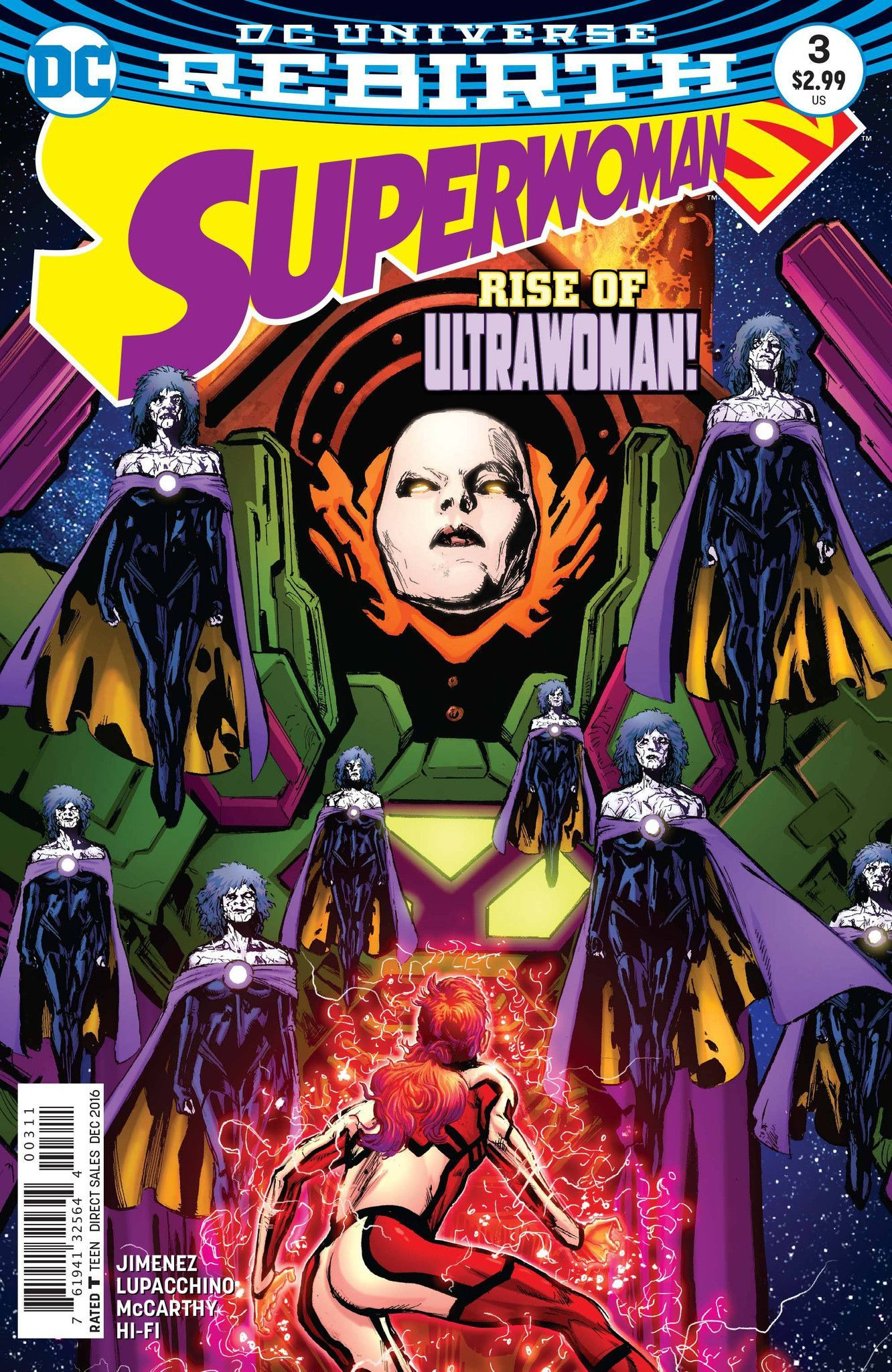 """""""WHO IS SUPERWOMAN?"""" part three! Ultra Woman is revealed, and her unstoppable Bizarress army are hunting for Superwoman! But that's not the only challenge facing the new hero-Steel has made a terrifyi"""