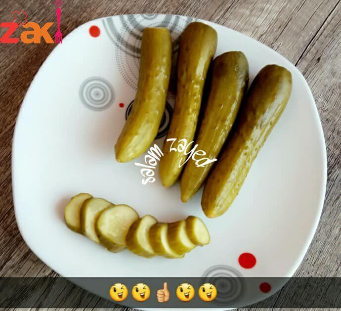 مخلل الخيار بشششششهي جدا والحموضة غير شكل زاكي Food Food And Drink Sausage