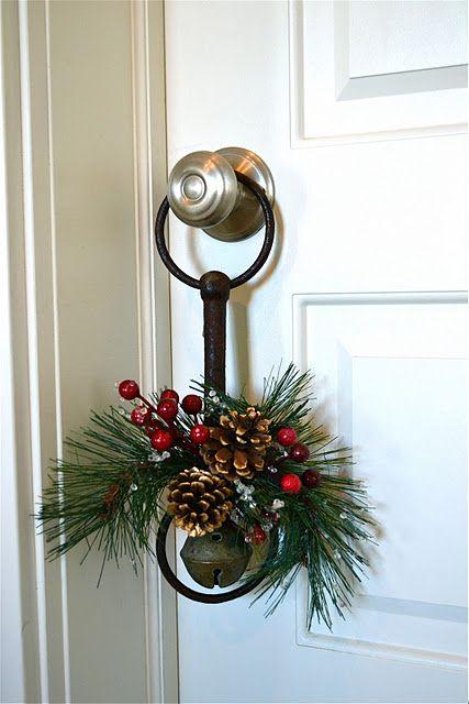 old horse bit as festive door knob decoration | Rustic ...