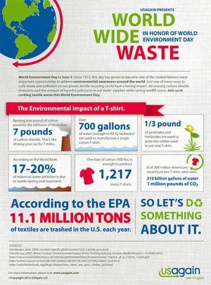 Environmental Impact Of A T Shirt Via Usagain World Environment Day Environment Day World Environment Day Essay