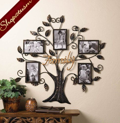 Family Tree Decorative Wall Decor Metal Photo Frame In 2019
