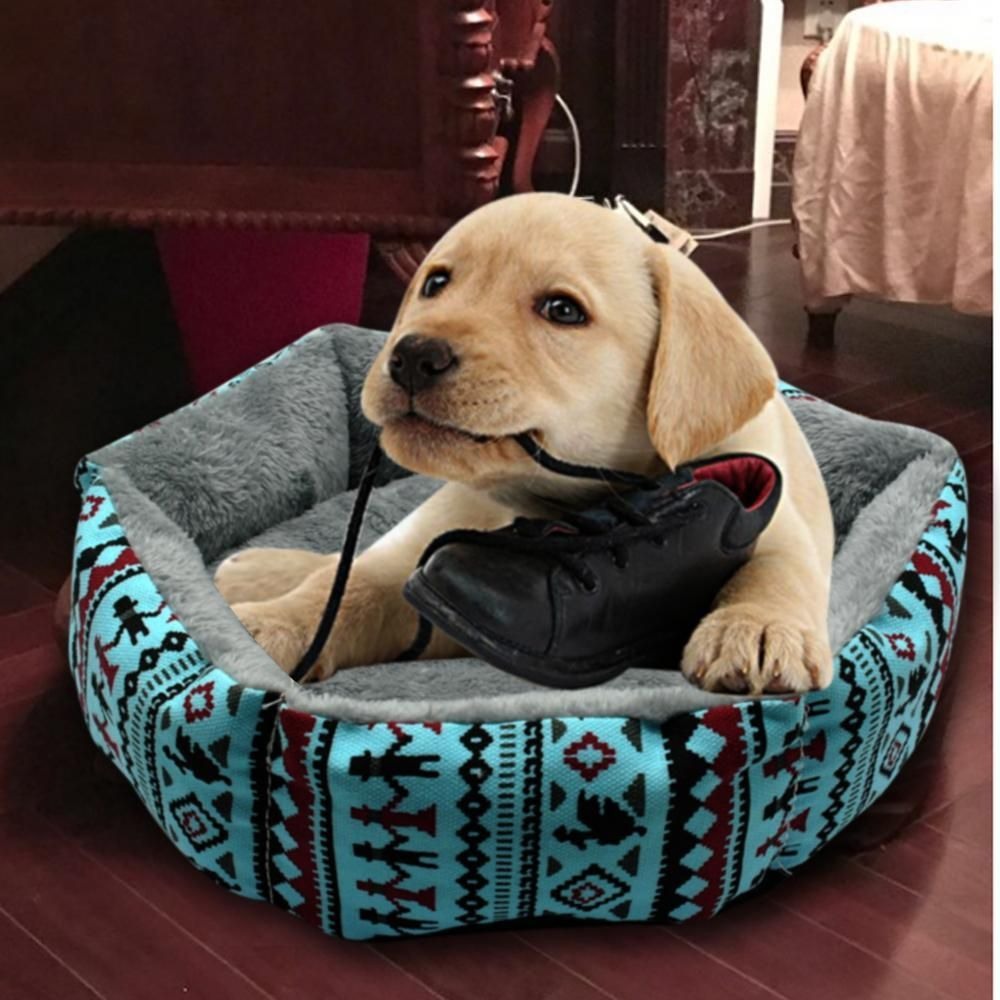 Winter Printed Pet Nest With Removable Cushion http