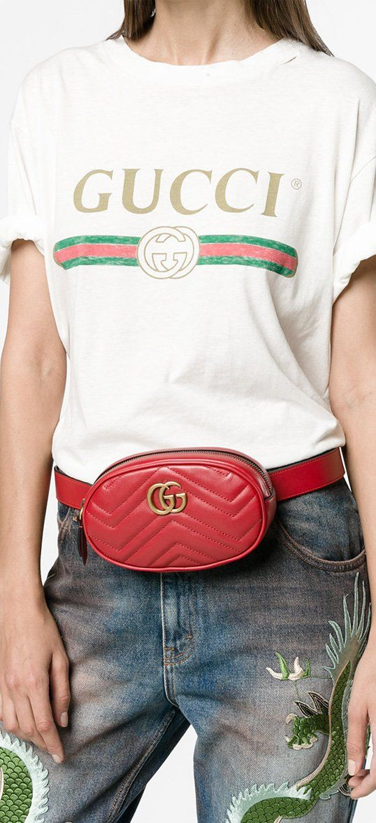 eb4db0d368b8 GUCCI GG Marmont matelassé belt bag, explore Gucci on Farfetch now ...
