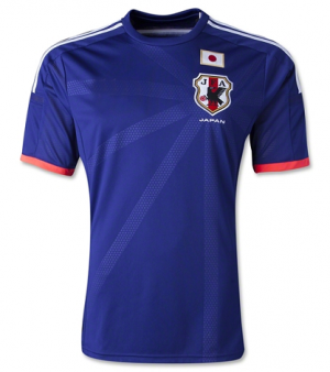new concept 73d69 92eb3 JAPAN Soccer Team 2014 WORLD CUP Home BLUE Replica Jersey ...