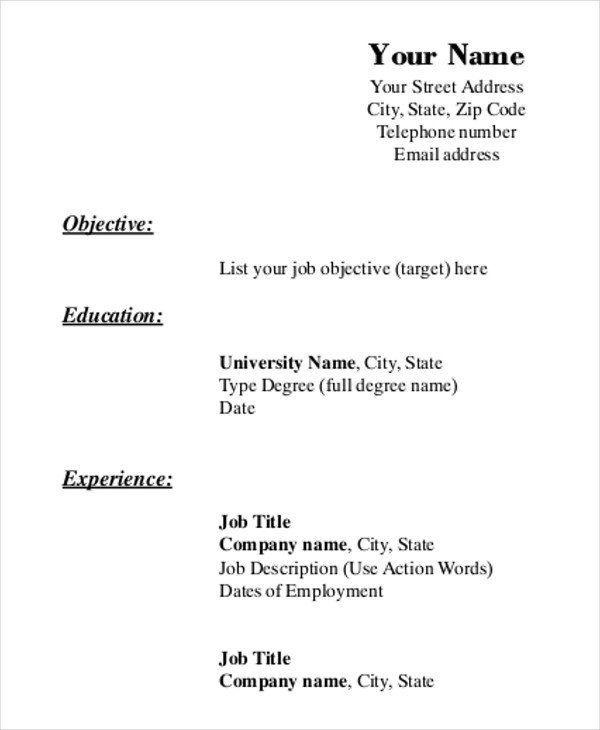 Resume Format Printable Resume Templates Free Printable Resume Templates Free Printable Resume Resume Form