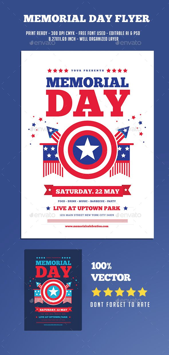 memorial day flyer pinterest flyer template template and event