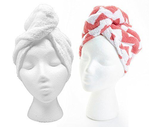 The Original Turbie Twist Super-Absorbent Hair Towel in White Set of 2