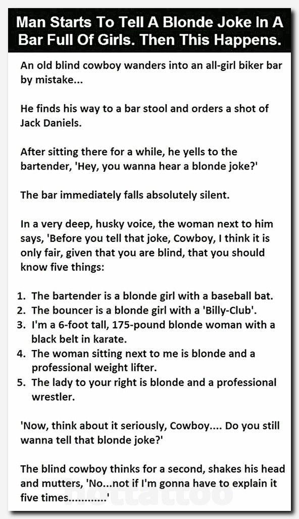 14 New Pretty Hilarious Short Stories Hot Tattoo Blonde Jokes Joke Stories Jokes Quotes