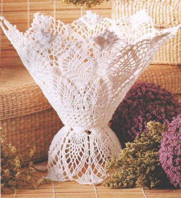 Sonho de croche: Já pensou em decorar seus vasos de flor?