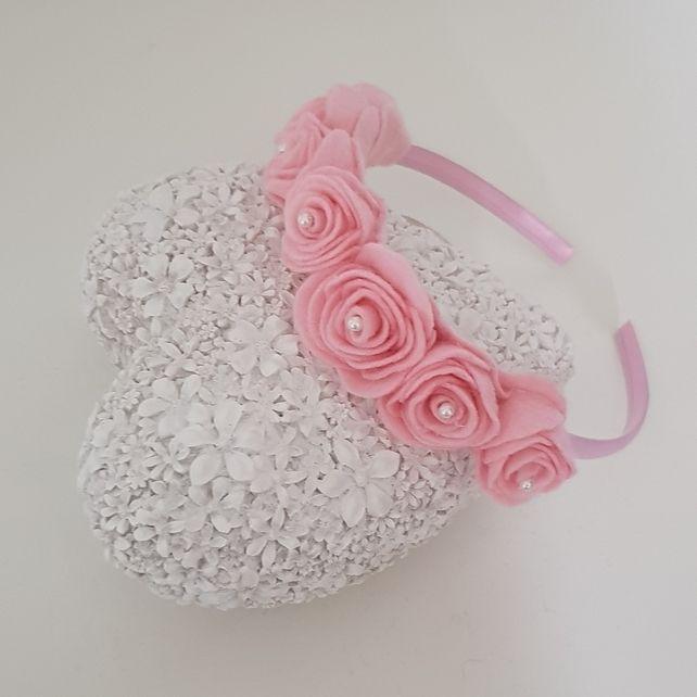 Beautiful Girls-toddler- flower girl- felt Flower headband #feltflowerheadbands
