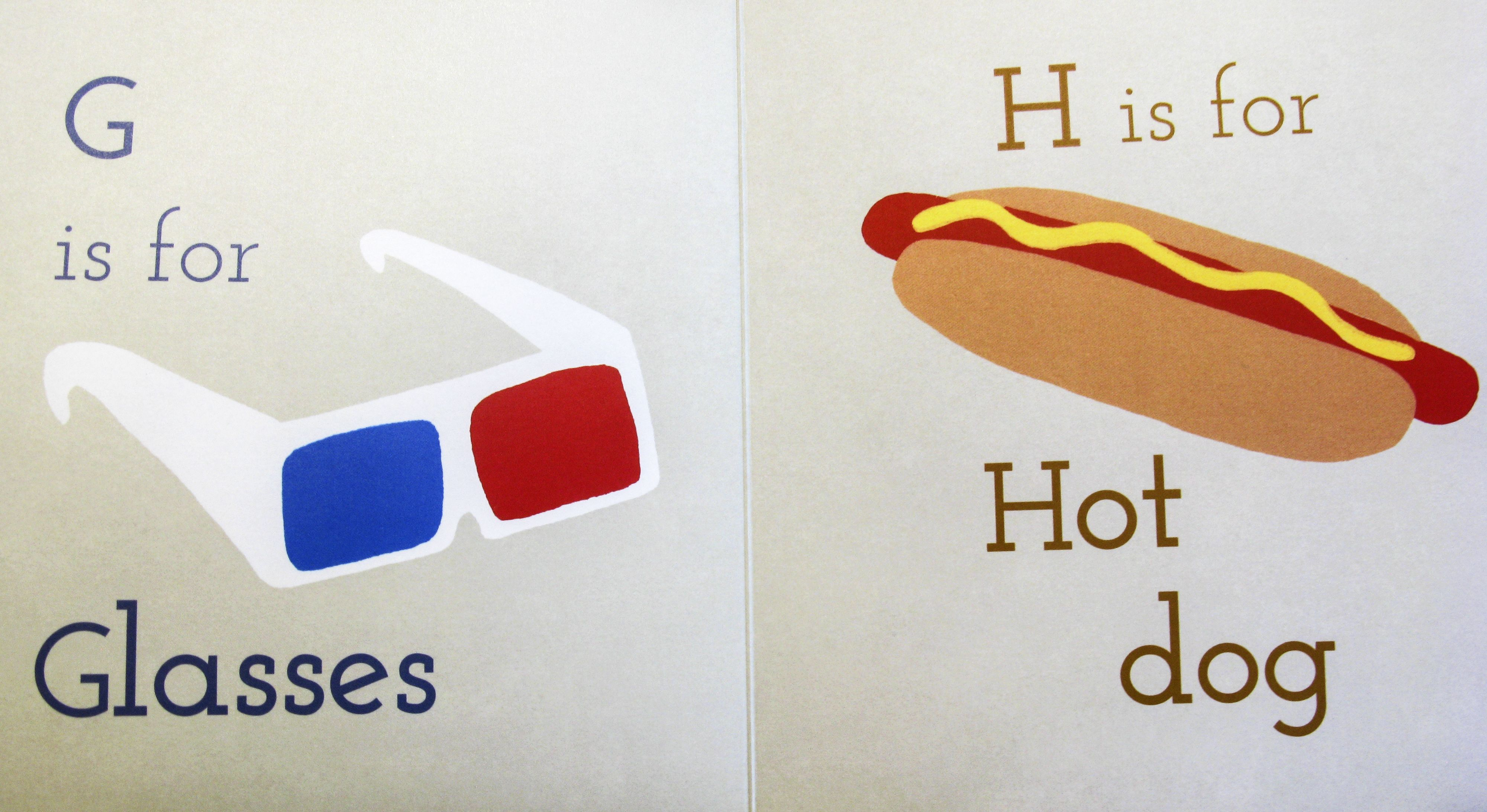 G is for Glasses, H is for Hot Dog! #alphabet #powkidsbooks