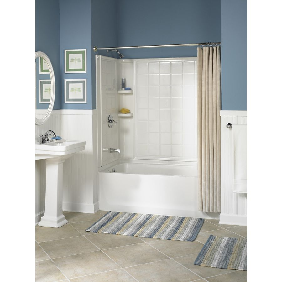 Shop Sterling Ensemble White Vikrell Rectangular Skirted Bathtub ...