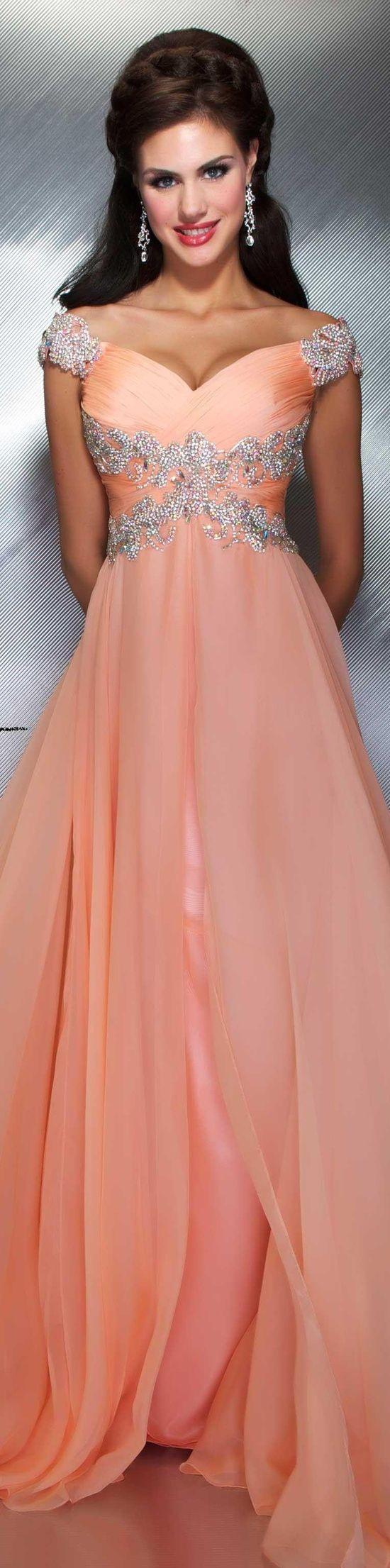 peach dress | Moda | Pinterest