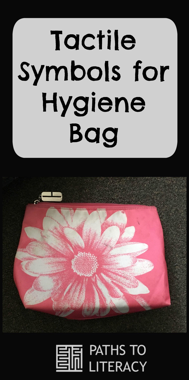 Tactile Symbols For Hygiene Bag