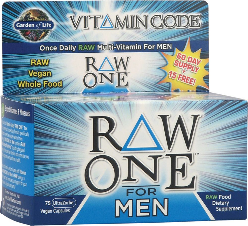 Garden Of Life Vitamin Code Raw One Multivitamin For Men 75