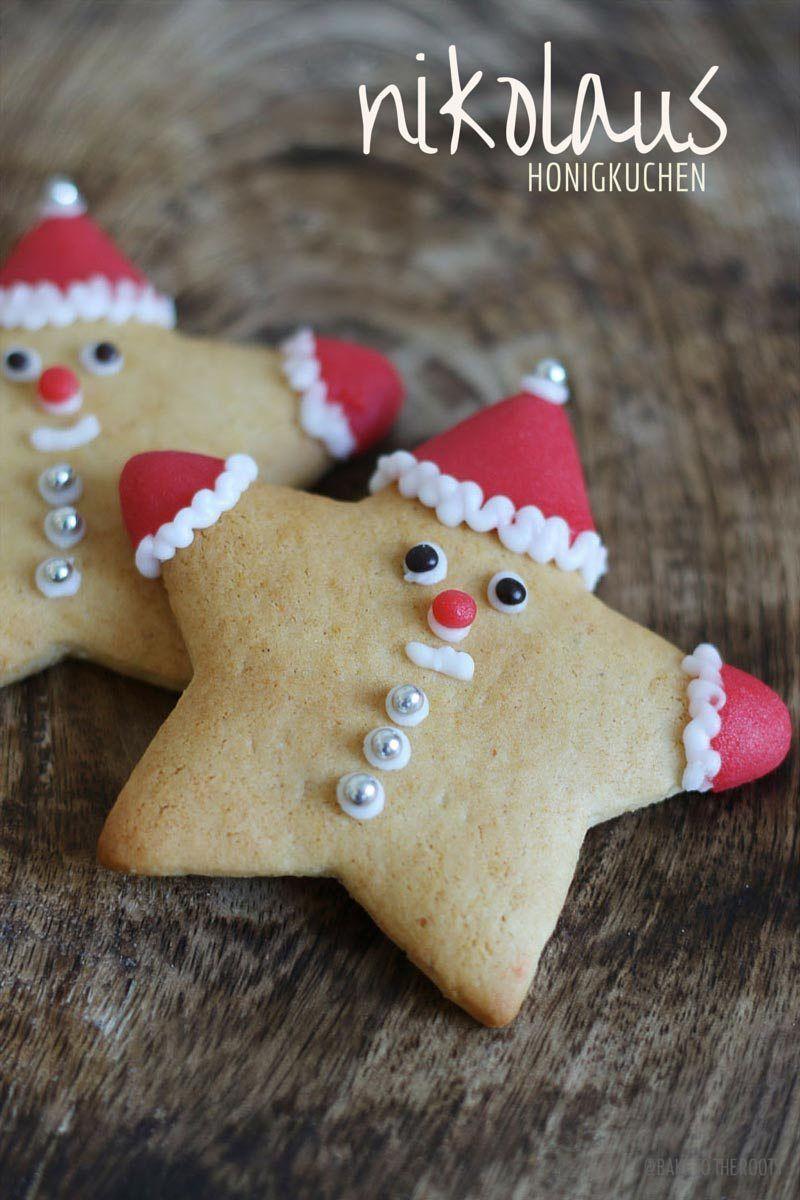 Kinder Weihnachtskekse.Nikolaus Honigkuchen